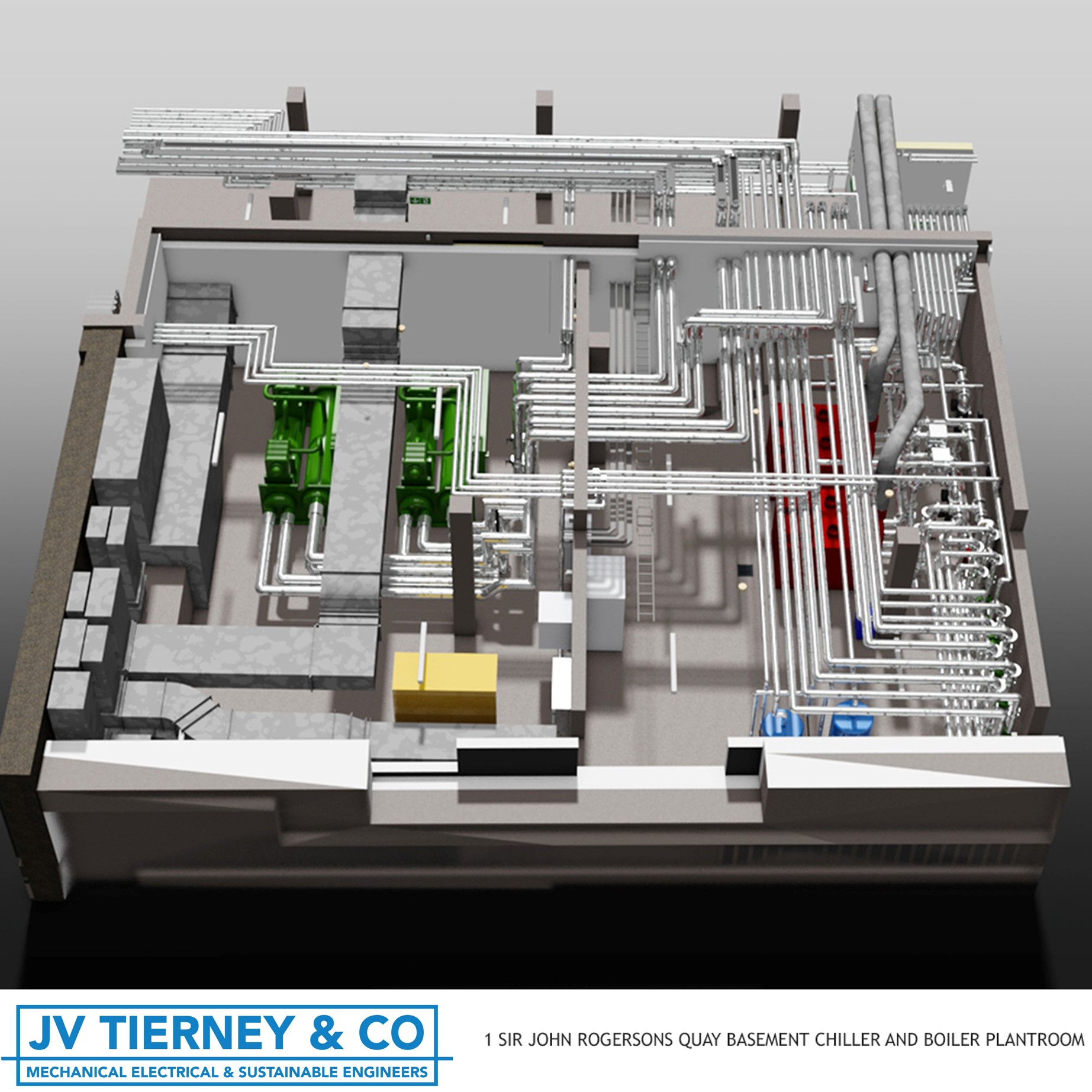 Mechanical Room Layout: JVTierney Consulting Engineers Ireland